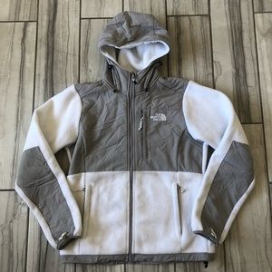 The North Face hooded Denali jacket. GUC